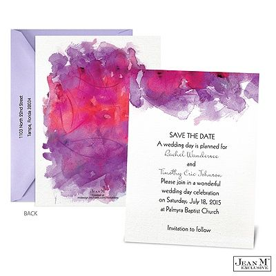 Watercolor Splash Save the Date