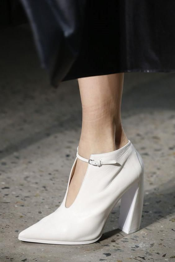 c40655ded97  FSJshoes -  FSJ Shoes Women s White Commuting Pointy Toe Block Heel  Vintage Shoes - AdoreWe.com