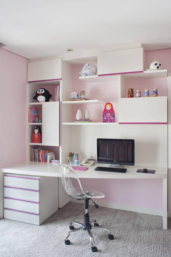 6 bancadas de estudos para quartos de crianças e adolescentes ...
