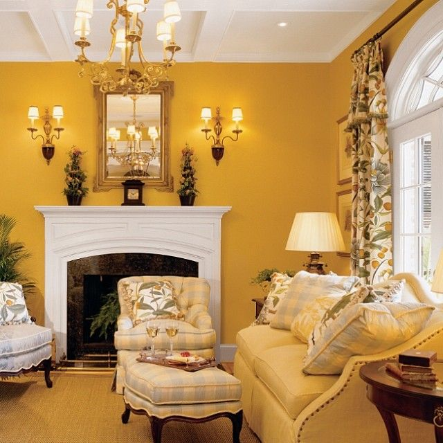 Luxury Living Room Color Schemes: We've Got Gold On These Walls For A Look That Oozes With