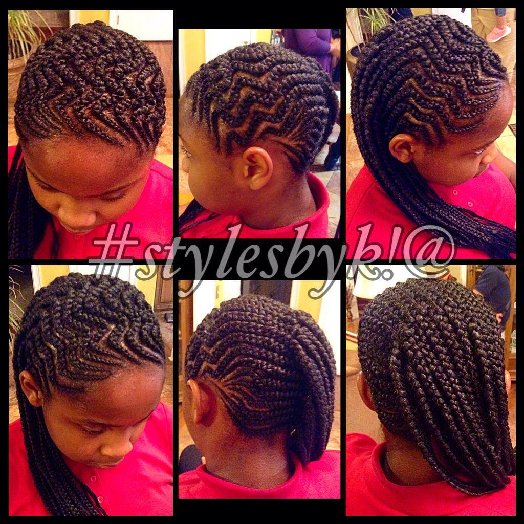 zig zag braids / cornrows using xpressions braiding hair. cornrows
