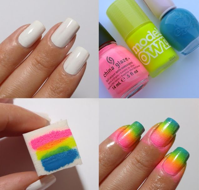 Easy Nail Art Tutorial Step By Step For Doing French Manicureombre
