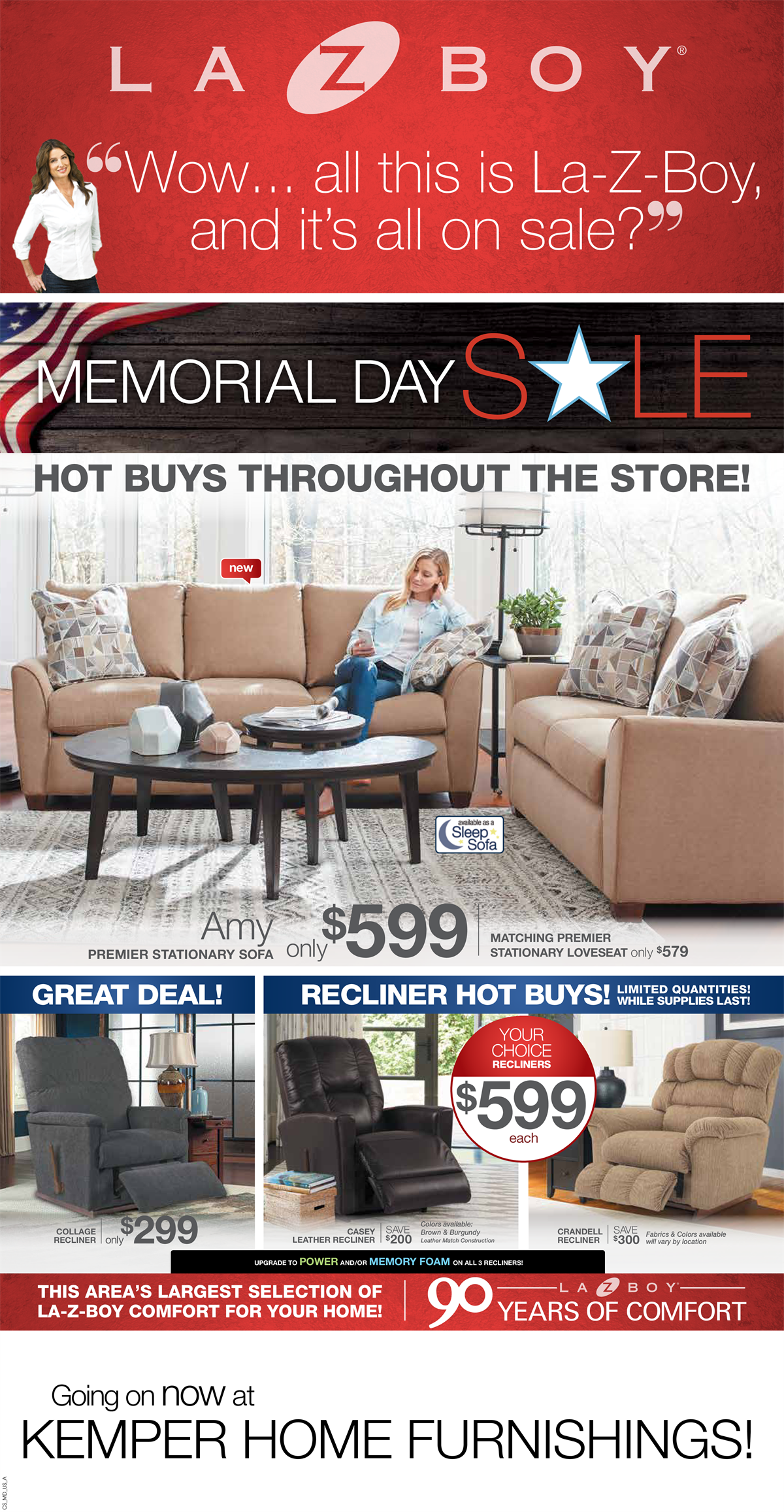 Memorial Day Sales Are In Full Swing Here At Kemper Home