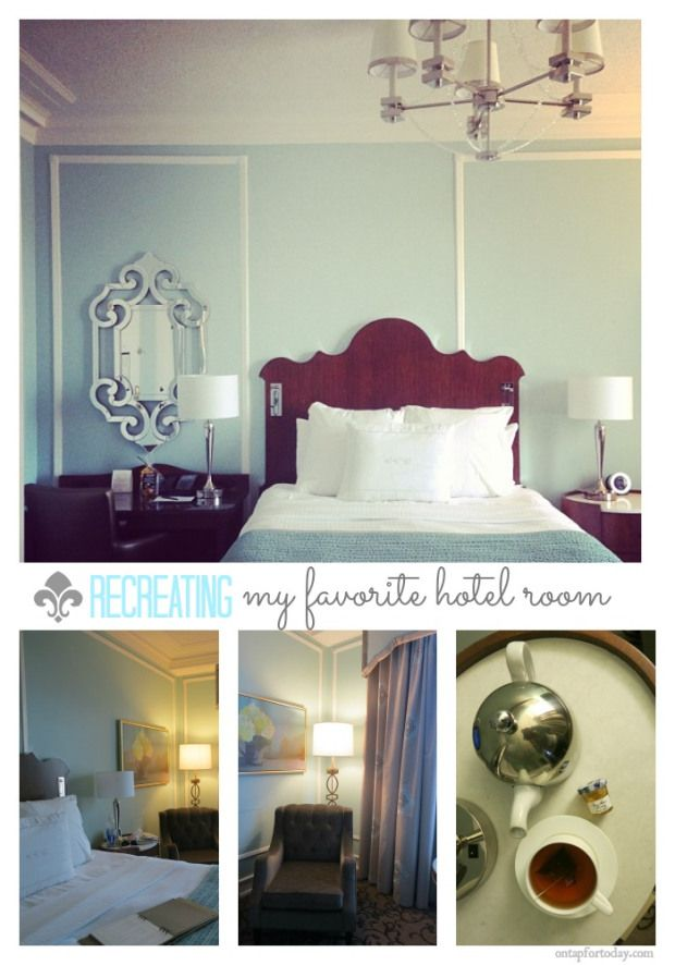 Hotel Room Accessories: Today: Recreating My Favorite Hotel Room