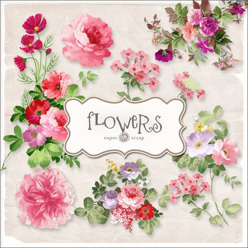 Scrap-kit - Vintage Flowers