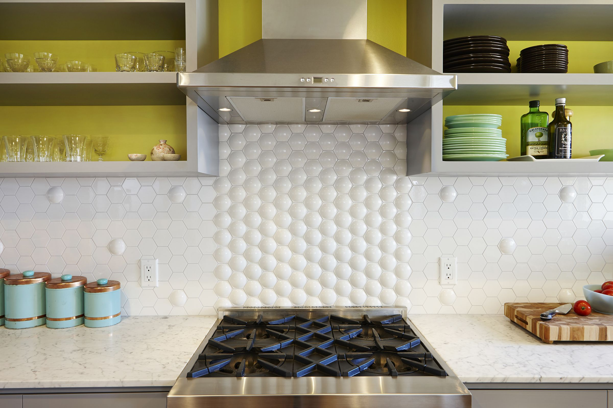 - Subway Ceramics Specialty Hex Dome Field Tile Makes For A