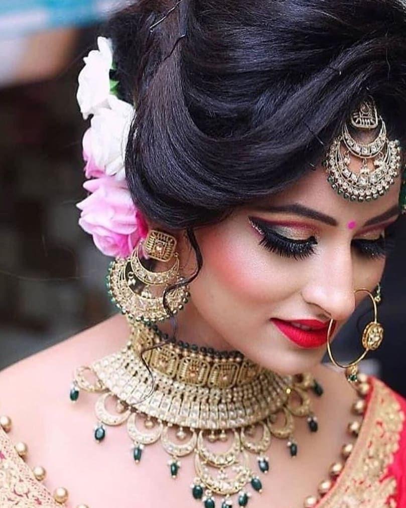 Bridal Portrait Indian Bride Makeup Bridal Hairstyle Indian Wedding South Indian Bride Hairstyle