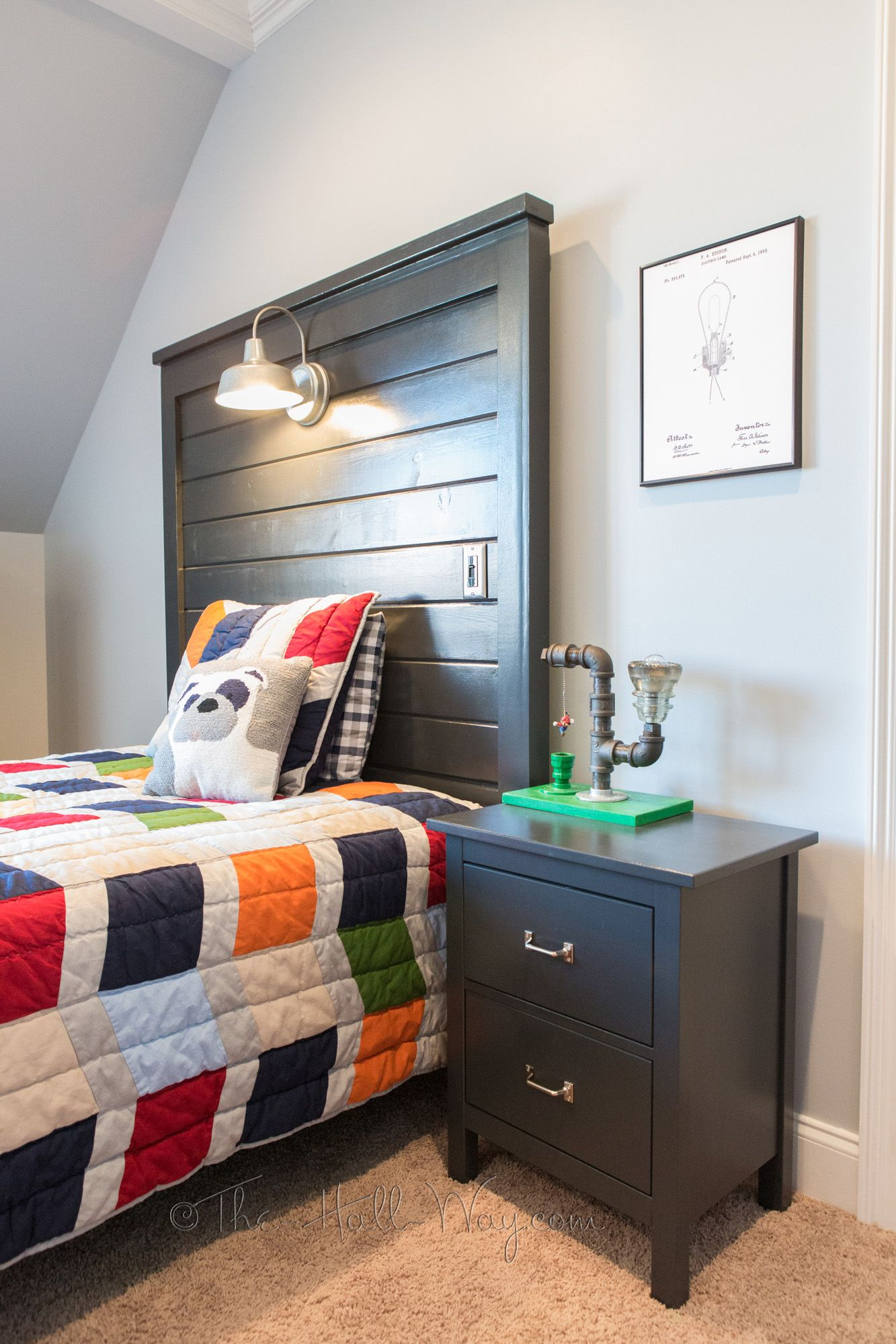 DIY Barn Light Bed Directions for Twin Size This Girl