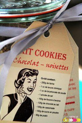 Kit cookies - ingrédients