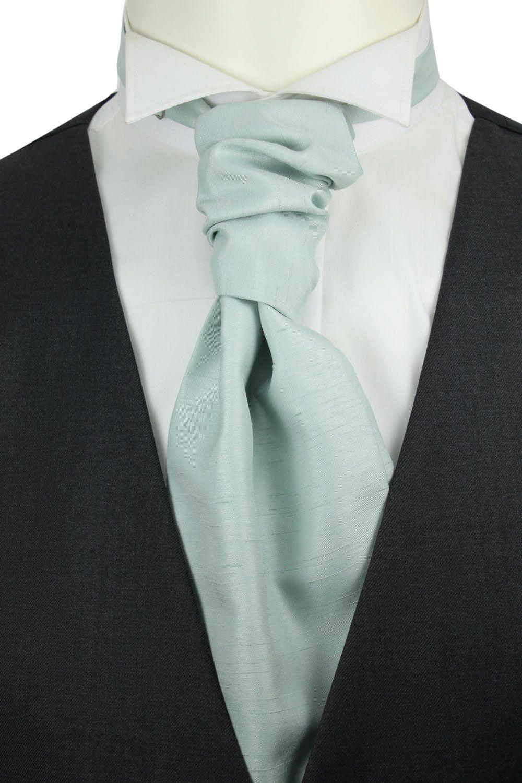 b5c5345ec8a3 Mint Green Shantung cravat perfect for spring wedding.   《FILE ...