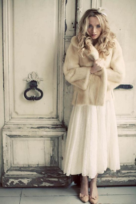 Winter Brides Fur Jackets And Stoles Fly Away Bride