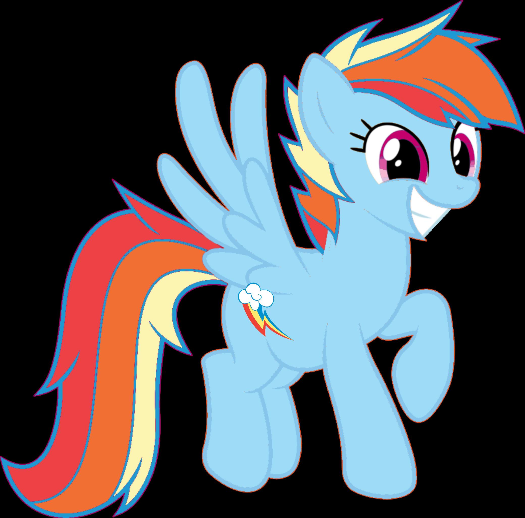 rainbow dash with mane