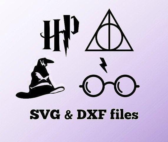 Schneiden Sie Harry Potter Svg Dxf Dateien Von Worlddigi Auf Etsy Harry Potter Silhouette Plotten Plotterdateien Free