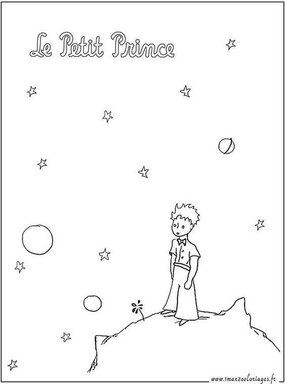 Coloriages Le Petit Prince Sur La Planete Le Petit Prince