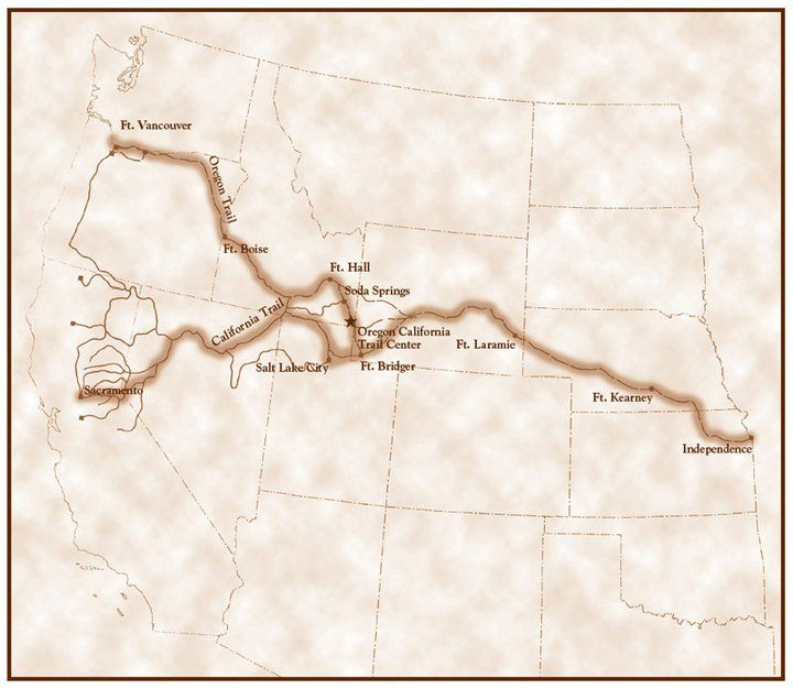 California Trail Oregon Trail from Independence Mo Hist