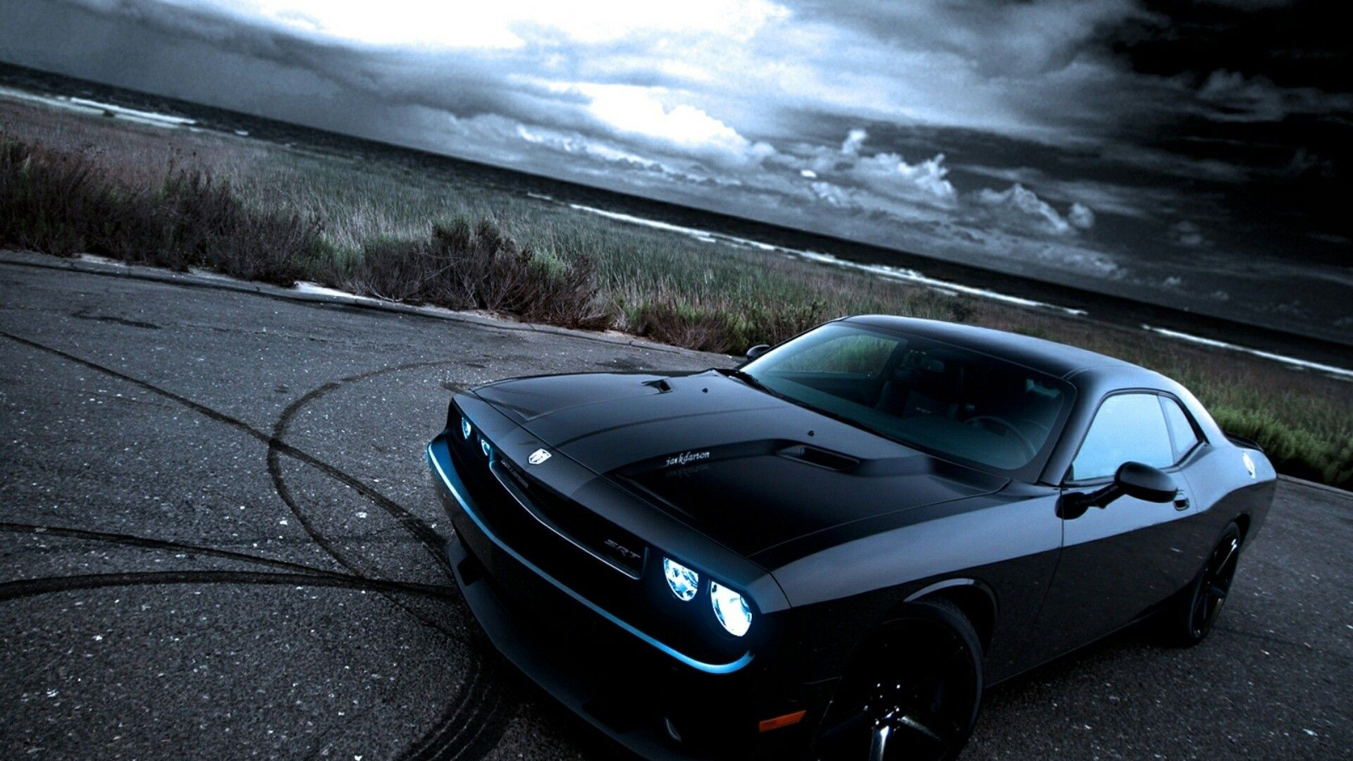 Images For Gt Cool Muscle Car Wallpaper Hd Dodge Challenger Black Dodge Challenger Car Photos