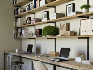 Diy un bureau industriel tout simple en bois brut et acier en