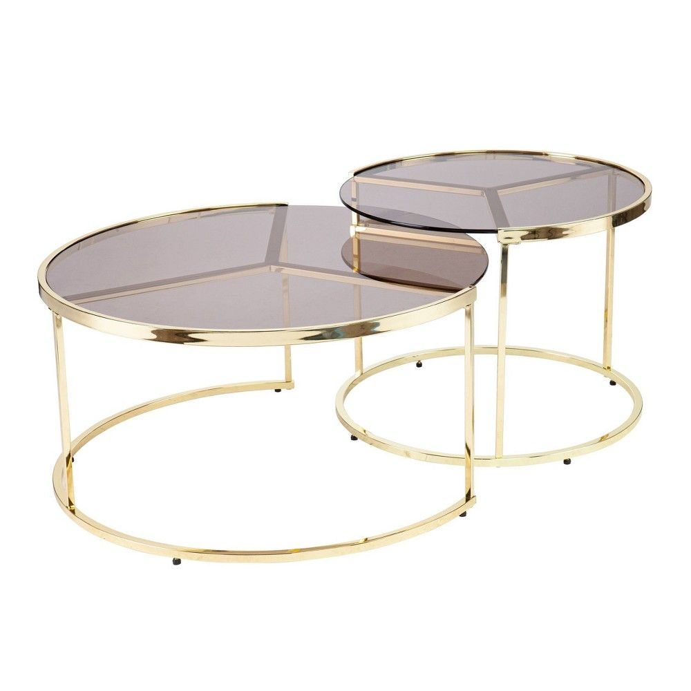 Set Of 2 Brugan Nesting Cocktail Table Set Brass Aiden Lane Nesting Cocktail Table Glass Cocktail Tables Coffee Table Setting [ 1000 x 1000 Pixel ]