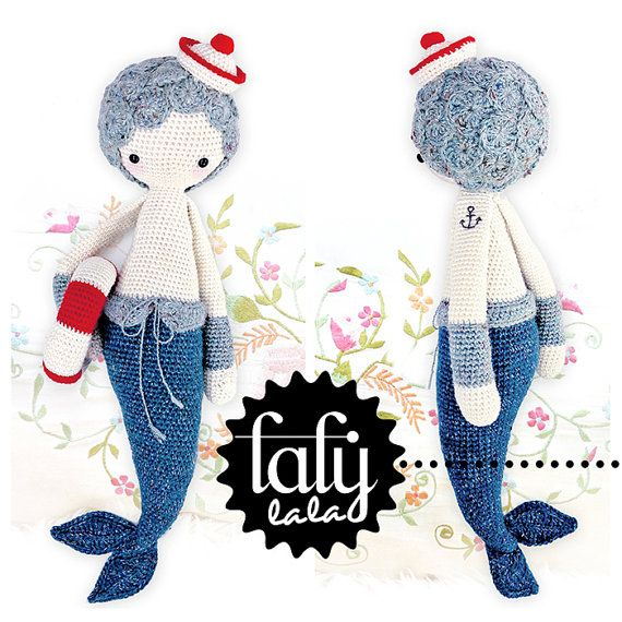 MICI the mermaid • lalylala crochet pattern / amigurumi | Pdf ...