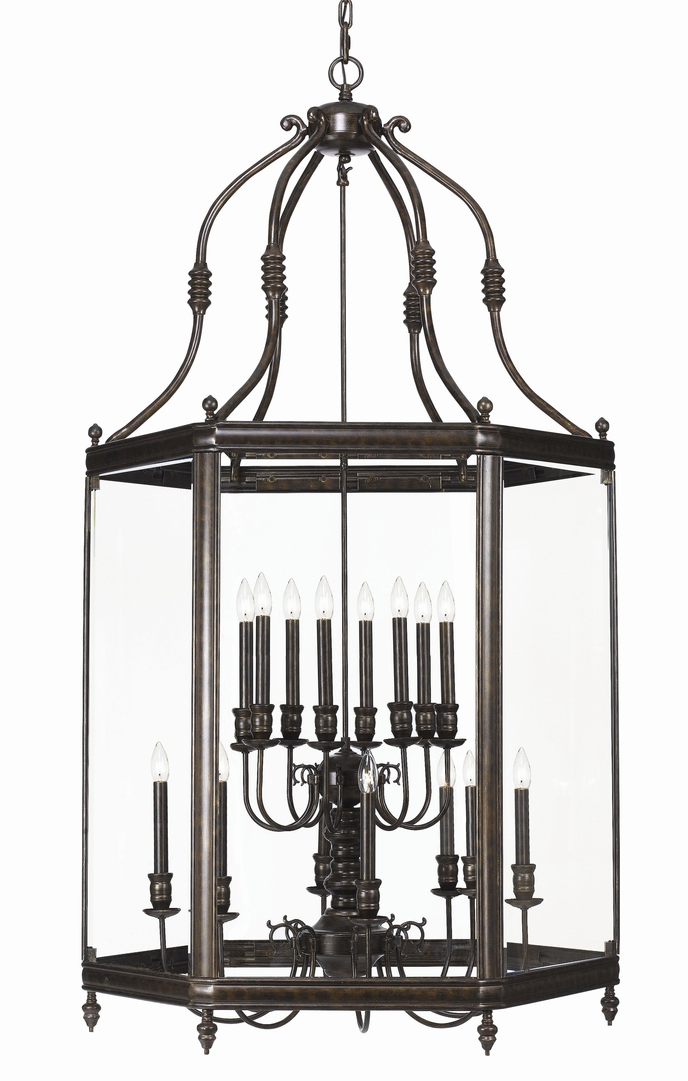 """scale foyer lantern 24""""W x 46""""H 6 3 x 60W $2590 35""""W x"""
