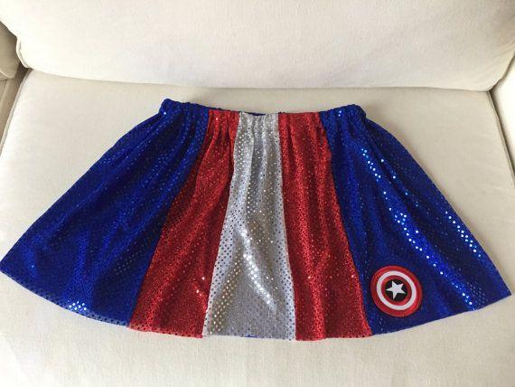 Captain USA Superhero Sparkle red/white/blue by