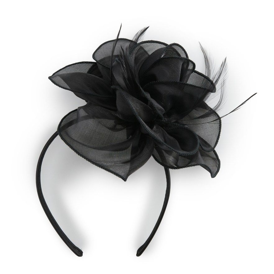Scala Metallic Organza Fascinator Headband