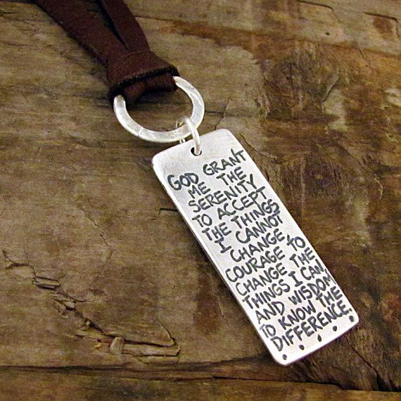 Serenity prayer necklace silver serenity prayer inspirational serenity prayer necklace silver serenity prayer inspirational quote jewelry mozeypictures Image collections