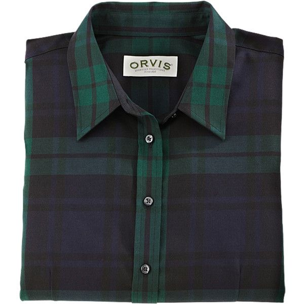 6ec67e015bd Holiday Plaid Shirt for Women   Black-Watch Wrinkle-Resistant Shirt