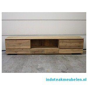 Indoteak Tv Kast.Zwevend Teak Tv Meubel 280cm Meubels Tv Meubels Woonkamer