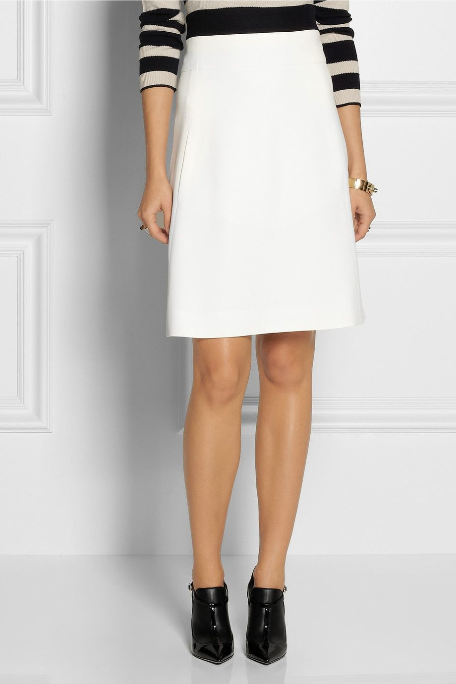 White A-line short #skirt | Chloé