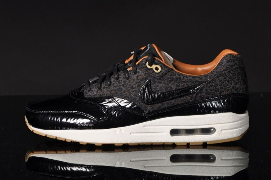 pretty nice 96c55 507c3 Nike Air Max 1 FB – Leopard – Black Patent Leather