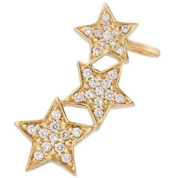 Alinka Stasia triple star diamond ear cuff - Metallic 9SKyDMepC9
