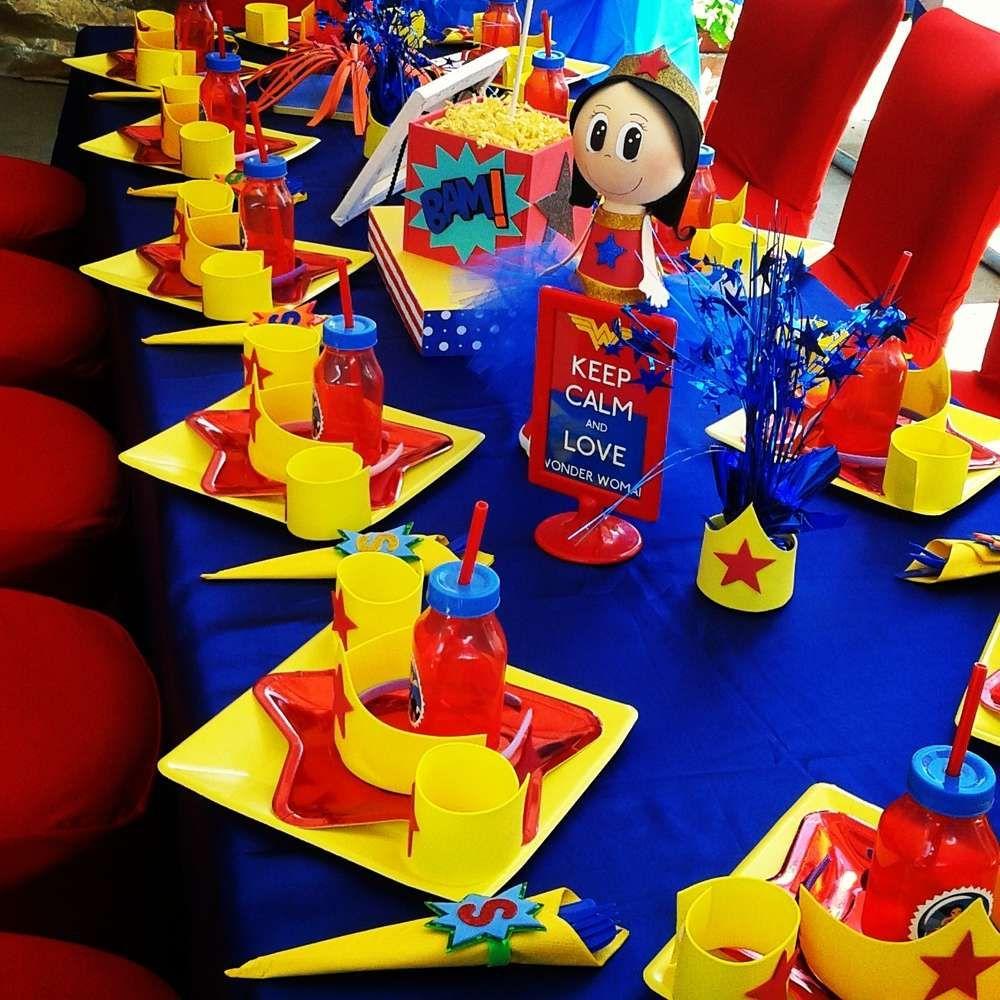 Fiesta tematica de la mujer maravilla fiesta super for Decoracion wonder woman