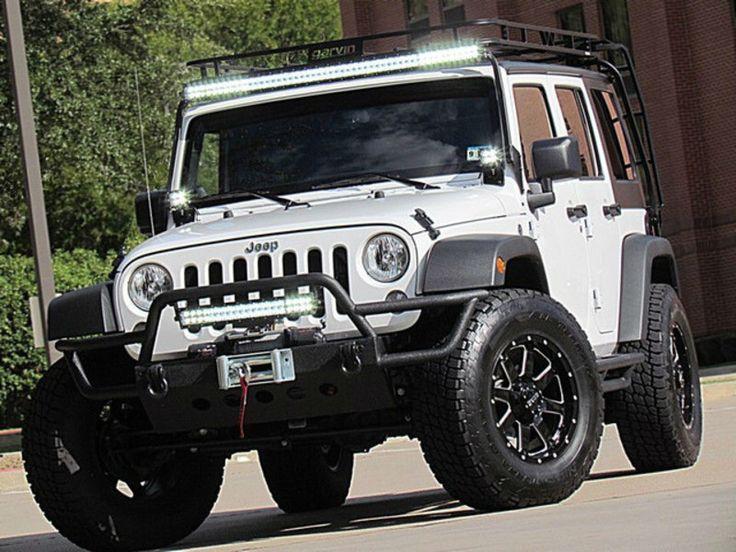 Jeep Wrangler Roof Rack Lights Led Bar Or Separate Round Lights Jeep Led Driving Lights Roof Rack