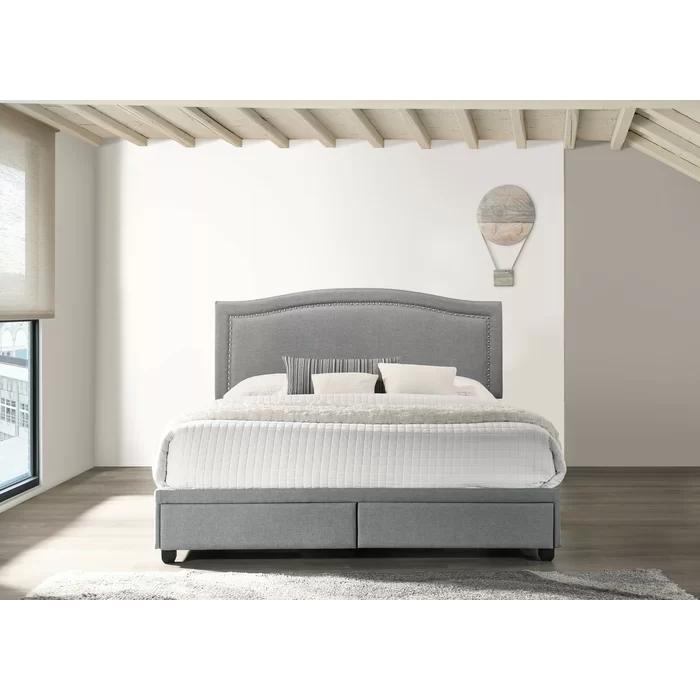 Iowa Low Profile Upholstered Storage Platform Bed in 2020