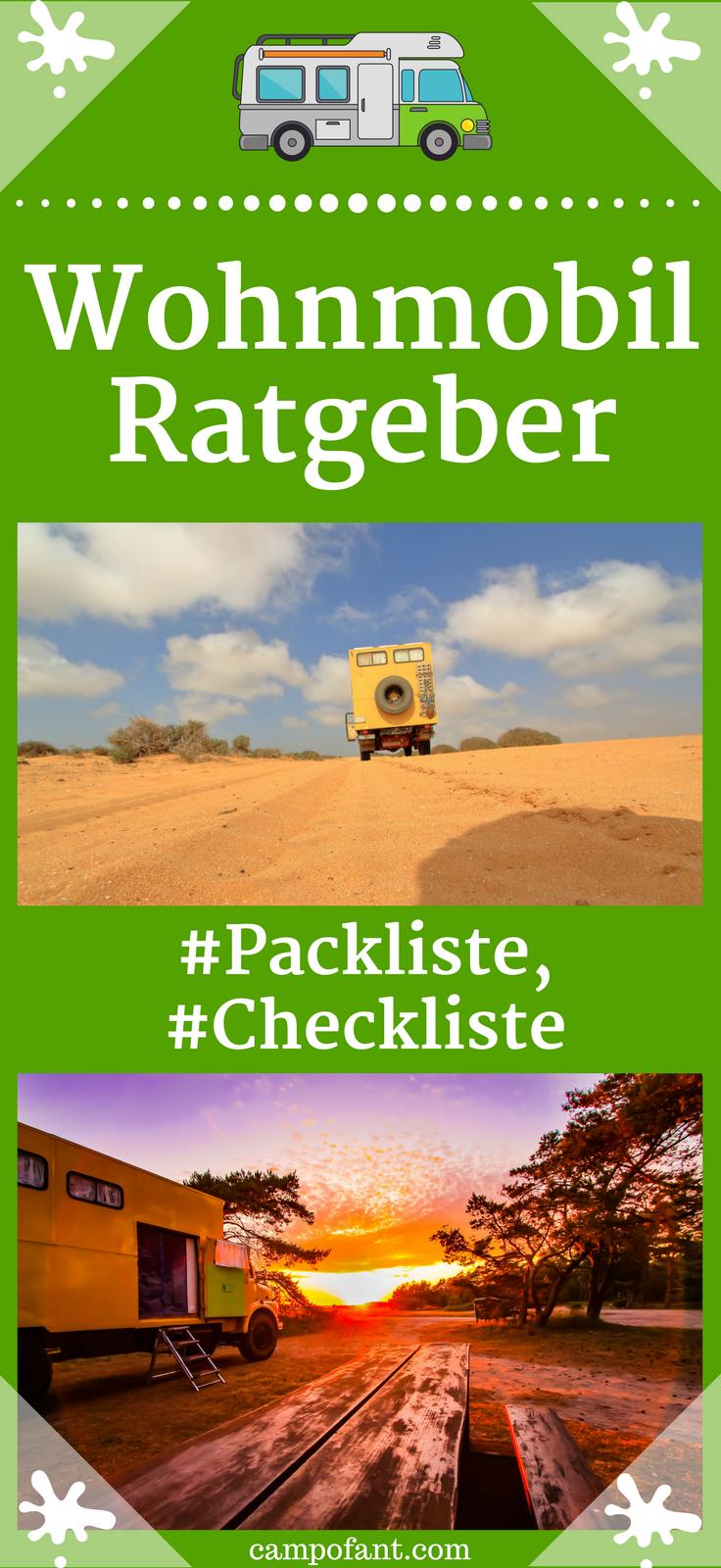 Wohnmobil Packliste und Camping Checkliste | Bretagne ...