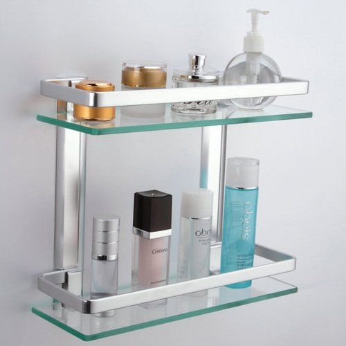 Superb Kes Bathroom Glass Shelf With Rail Aluminum And Extra Thick Download Free Architecture Designs Scobabritishbridgeorg