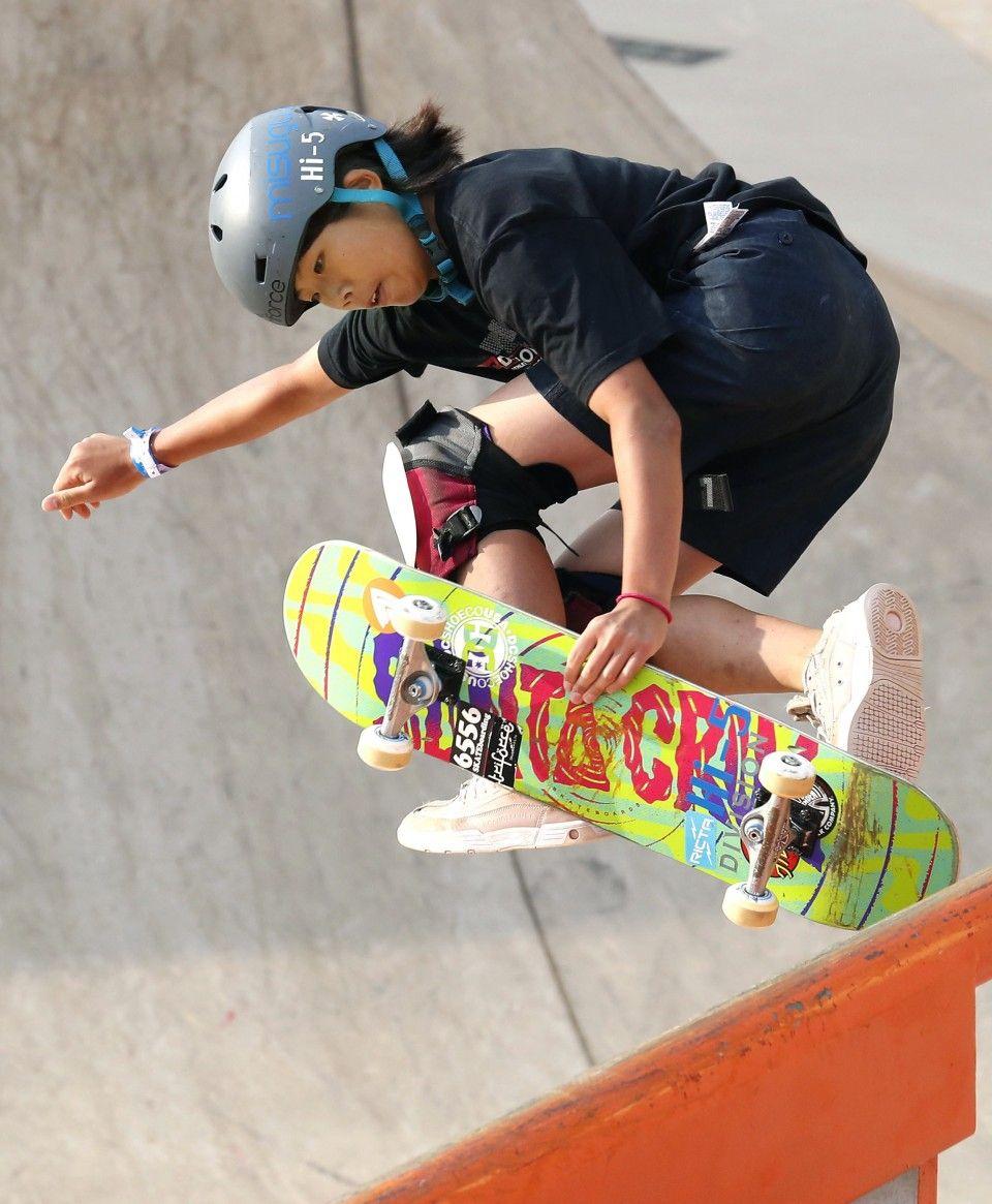 13yearold Misugu Okamoto blazing trail to skateboarding
