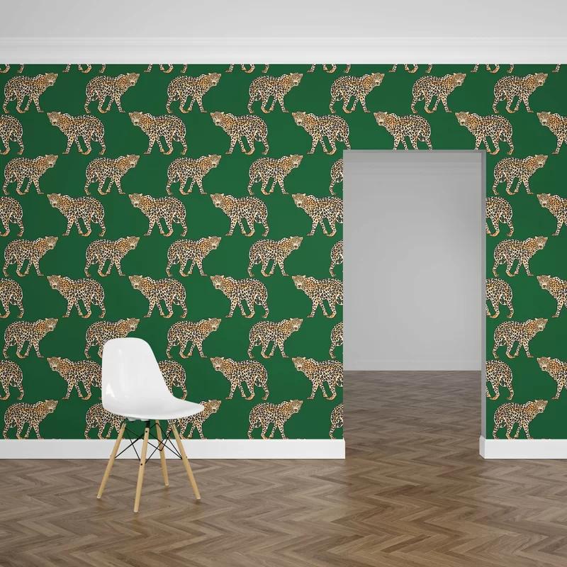 Adelie Leopard Wallpaper Google Search Wallpaper Panels Peel And Stick Wallpaper Bohemian Wallpaper