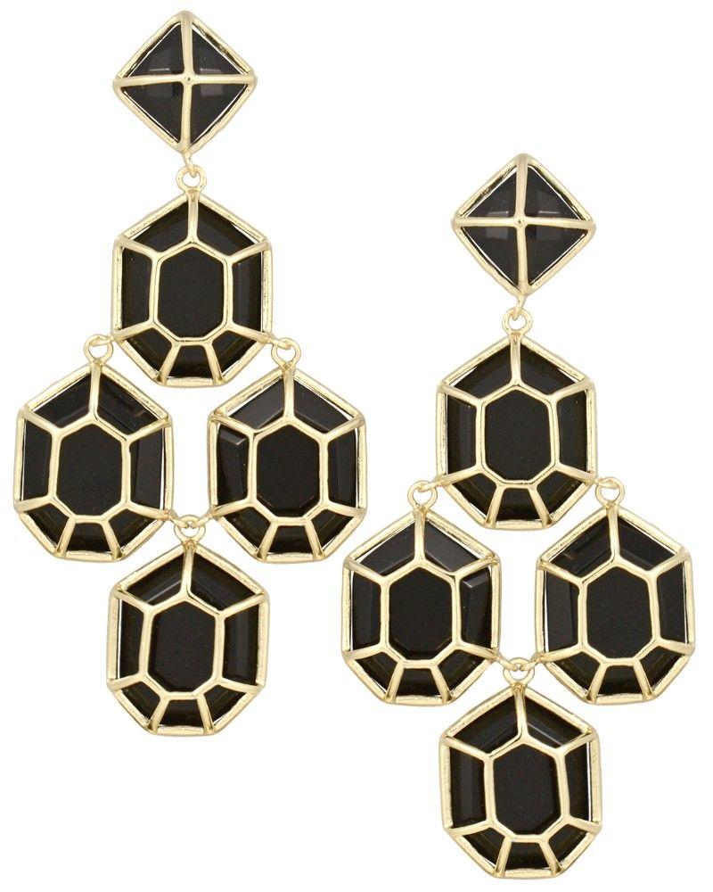 Lorraine chandelier earrings in black jewelry pinterest kendra scott lorraine chandelier earrings in black arubaitofo Images