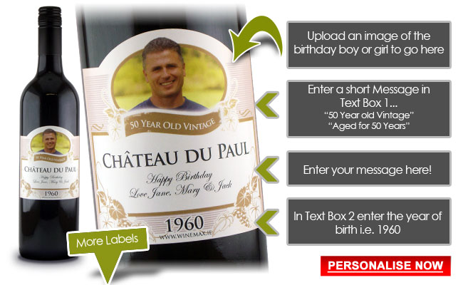 Personalised 50th Birthday Gift Unique 50th Birthday Gift For Him 50th Birthday Gift Ideas Unique 50th Birthday Gifts Birthday Wine Label 30th Birthday Gifts