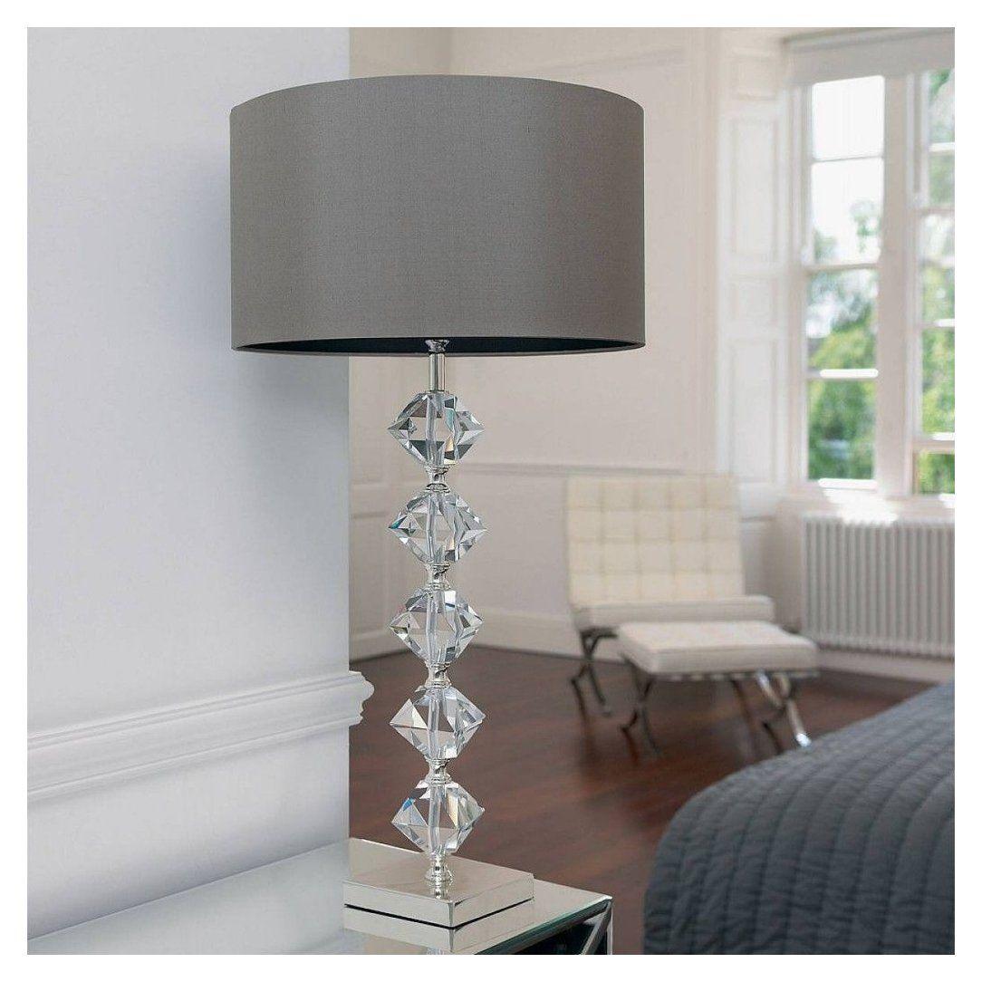Endon Verdone 1 Light Crystal Table Lamp Endon Verdone 1 Light Crystal Table Lamp In 2020 Crystal Table Lamps Grey Table Lamps Bedside Table Lamps Modern