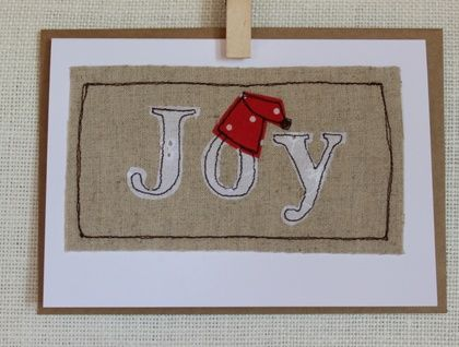 Pack of 5 freehand machine embroidered Christmas Cards | Fabric ...
