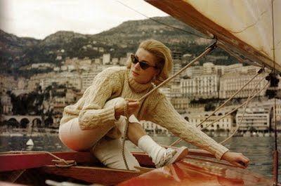 Grace Kelly sailing