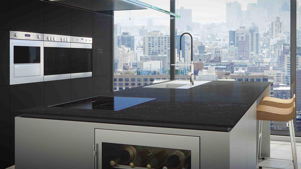 Kunststein Arbeitsplatten stehen in zahlreichen Maserungen und - küche granit arbeitsplatte