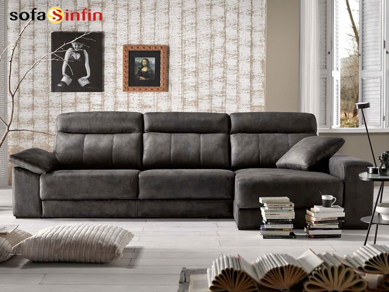 SOFASSINFIN decoracionhogar Sofá con chaise longue A odel