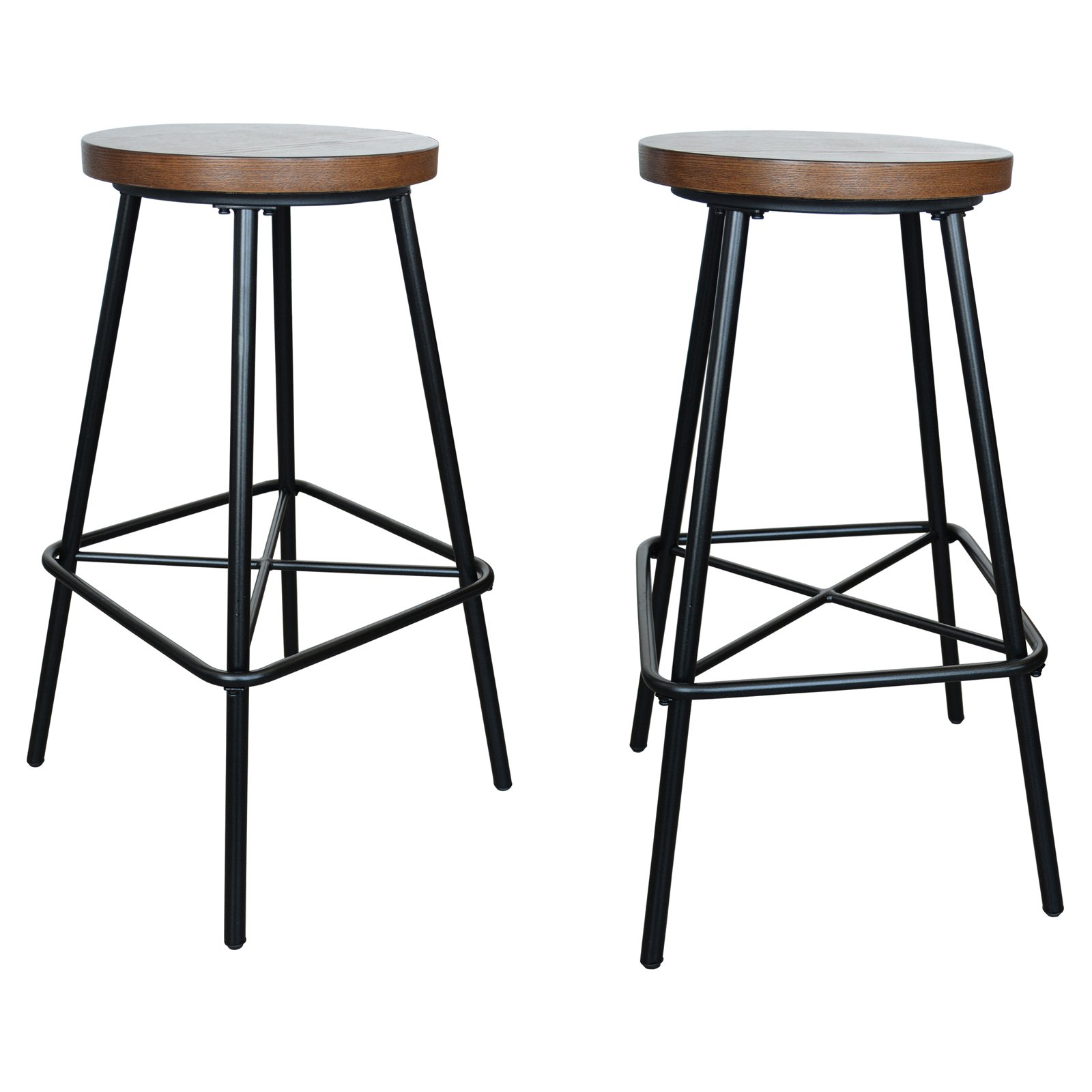 Carolina Chair Table Co Thatcher 30 In Backless Bar Height Stool Set Of 2 Bar Stools Iron Bar Stools Bar Height Stools