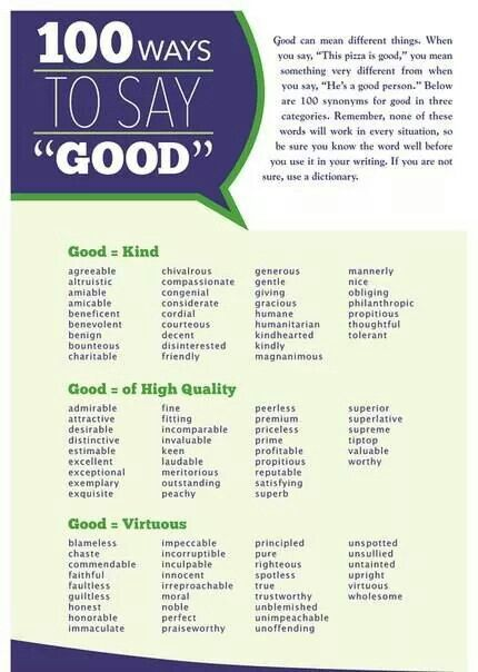 pin by anna kalcheva on ideas for the house english good writing avoids bland adjectives like good this poster helps young writers more specific and vivid alternatives an excellent tool for building
