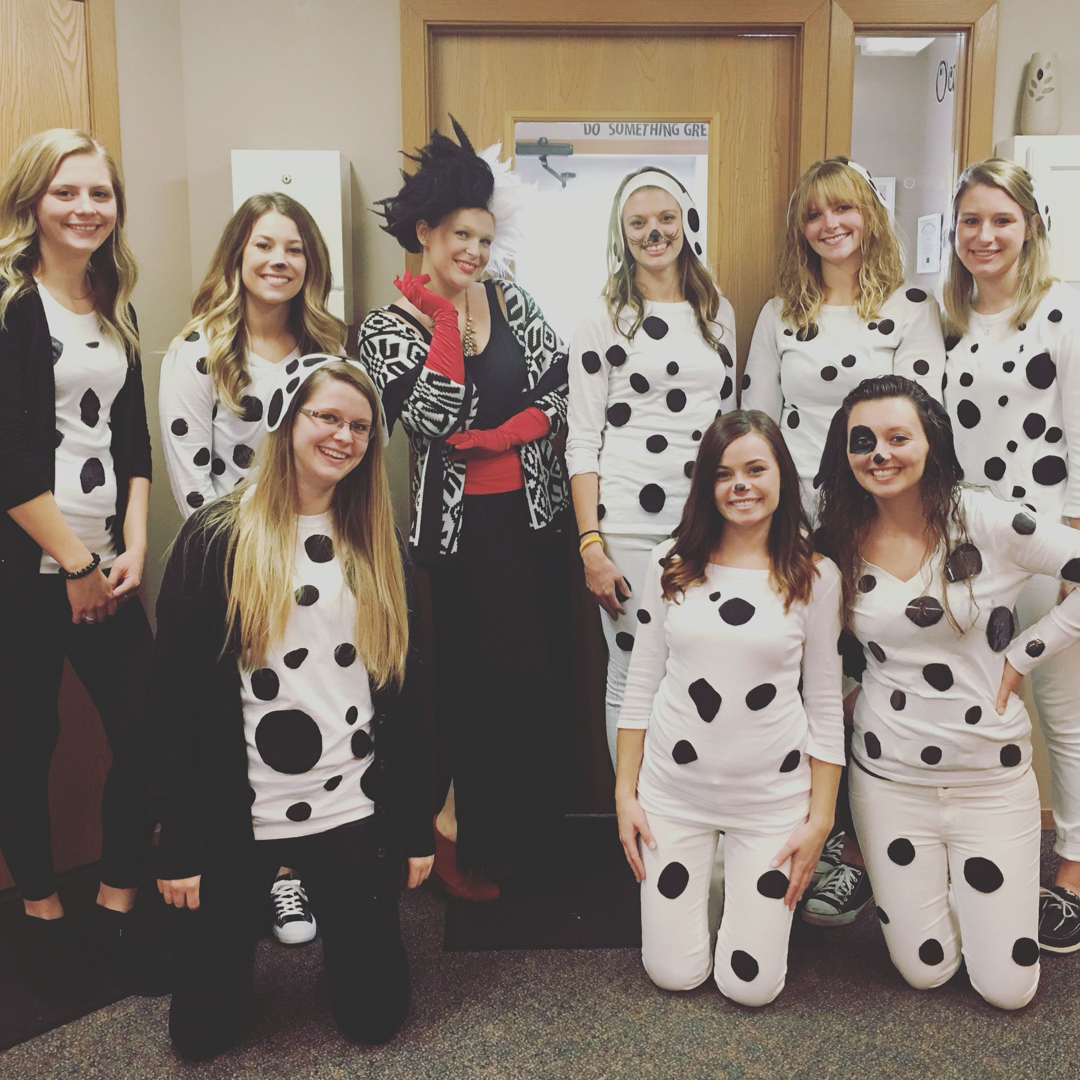 101 Dalmation group costume Office halloween costumes
