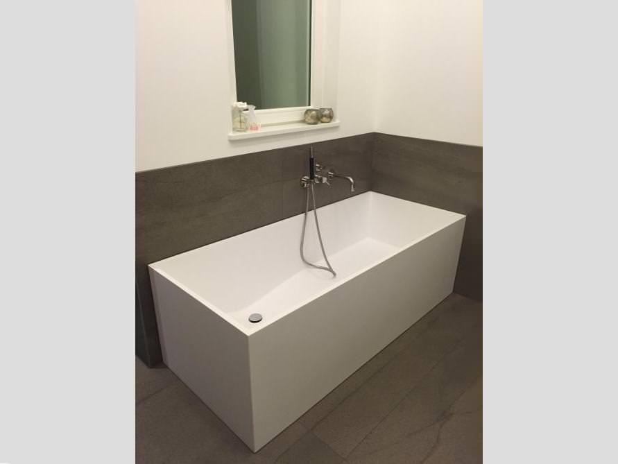 Freistehende Badewanne Firenze aus Mineralguss - Weiß matt oder - schöne badezimmer ideen